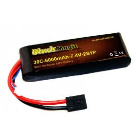 BlackMagic Semi HardCase, 30C 6000mAh 2S