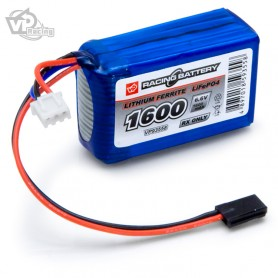 Mottagarbatteri Li-Fe 6,6V 1600mAh Kub