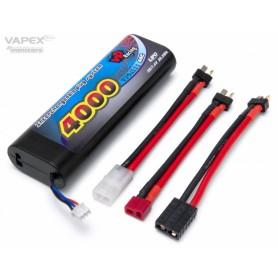 Li-Po Batteri 2S 7,4V 4000mAh 40C Multi-kontakt