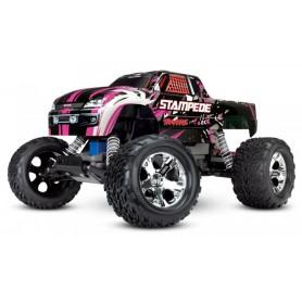 Stampede 2WD 1/10 RTR TQ Pink-X med Batteri/Laddare