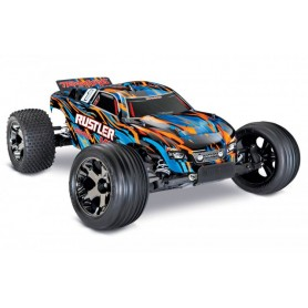 Rustler VXL 2WD 1/10 RTR TQi TSM OrangeX - utan Batt/Ladd