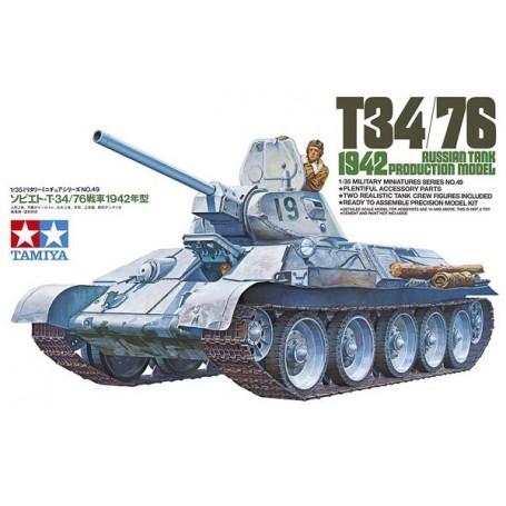 1:35 RUSSIAN TANK T34/76 1942 PRODUCTION MODEL